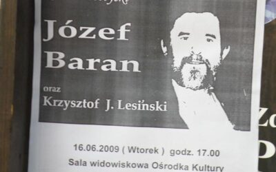 Recital poetycki – Józef Baran, Krzysztof J. Lesiński. Czersk 2009